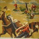 "4 PIECES Pindler Fabric P9051 Cowboy Rodeo Western  26"" X 24"" Round Up Horses"