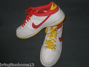2008 McDonalds Nike NYX Dunk Low White Red Yellow Orange Shoes Size 6 Youth
