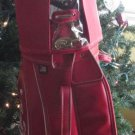 "ENJOY COCA COLA GOLF BAG RED W/ RAINCOVER AND IRON DIVIDER 8.5"" MILLER TR 9-99"