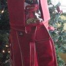 "ENJOY COCA COLA GOLF BAG RED W/ RAINCOVER AND IRON DIVIDER 8.5"" MILLER TR 9-99"