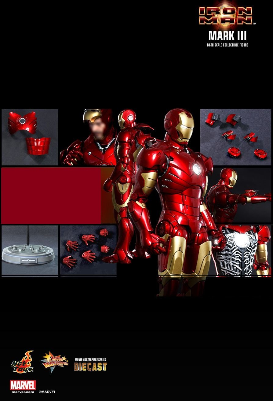 Hot Toys Iron Man : 1/6th scale Mark III Collectible Figure (Discount)