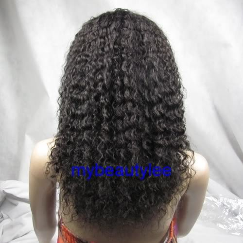 "indian remy human hair full lace wig 18"" 1b# water wave"