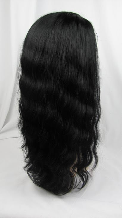 """front lace wig remy human hair 16"""" 1# body wave"""