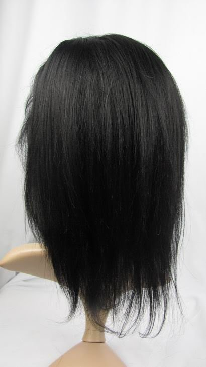 "indian remy human hair front lace wig 10"" 1# yaki"