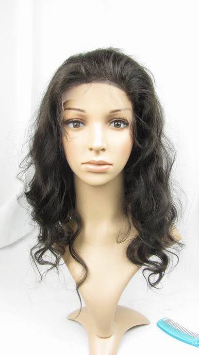 "front lace wig remy indian human hair 16"" 2# body wave"