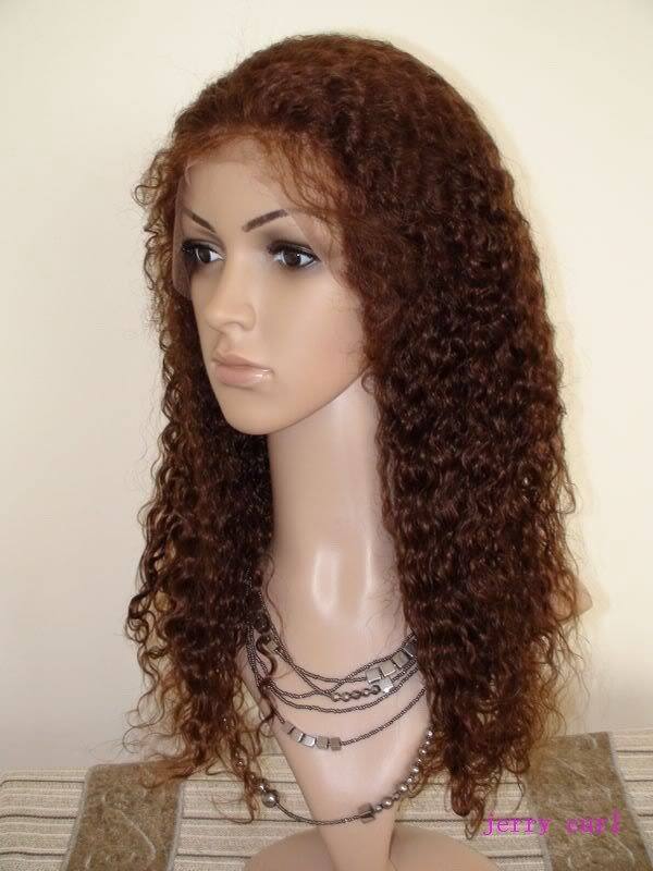 full lace wig indian remy human hair 14inch 4# curly