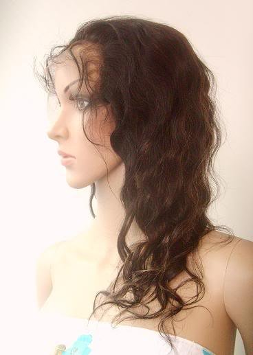 """front lace wig remy human hair 14"""" 1b-30# body wave"""