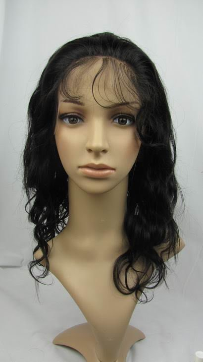 full lace wig remy human hair 12inch 1b# body wave