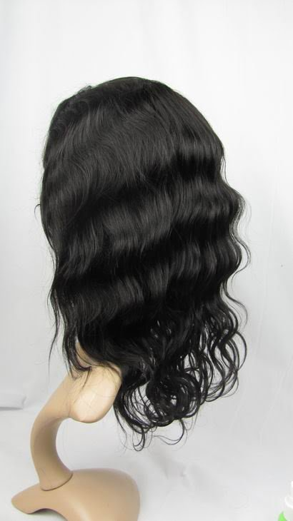 "remy indian human hair 12"" 1b# body wave front lace wig"
