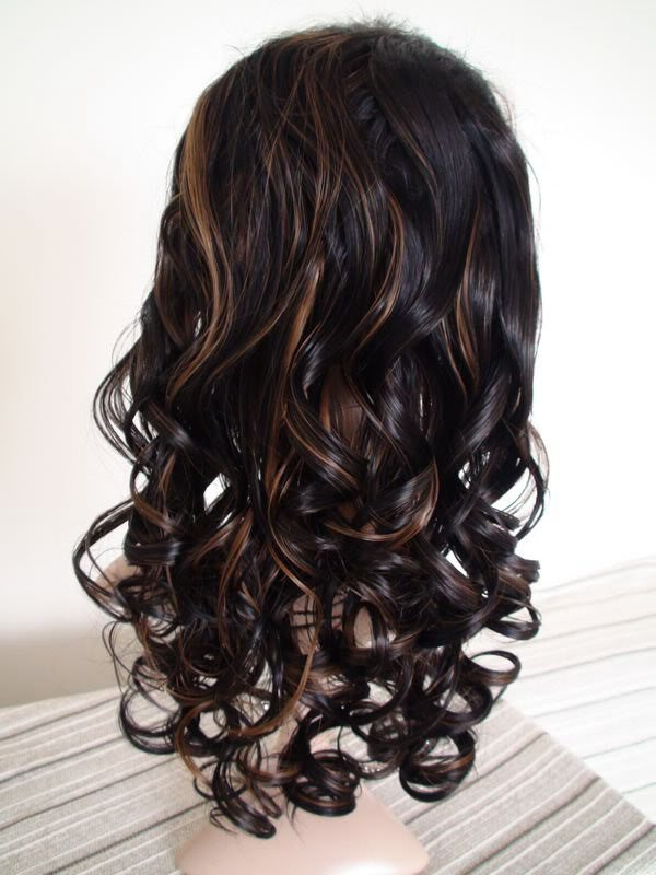 "full lace wig remy 100% human hair 16"" 1b-30# body curl"