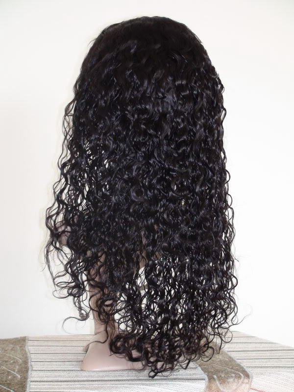 "front lace wig remy indian human hair 16"" 1# curly"
