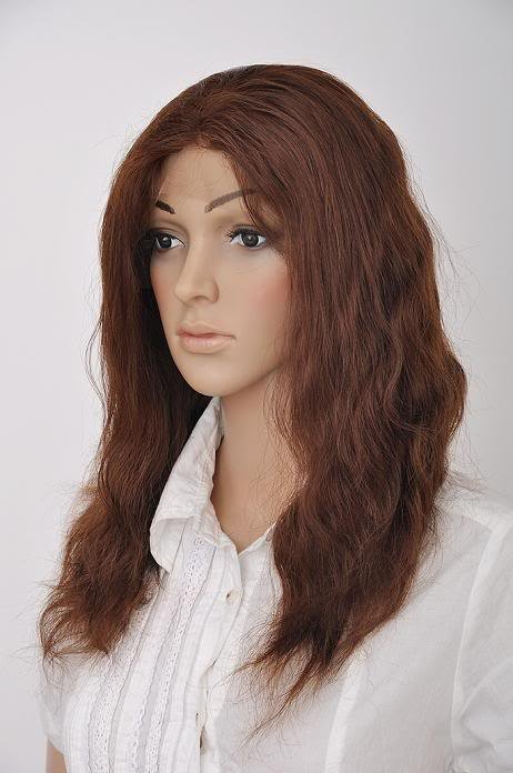 """100% remy human hair 14"""" 4# body wave front lace wig"""