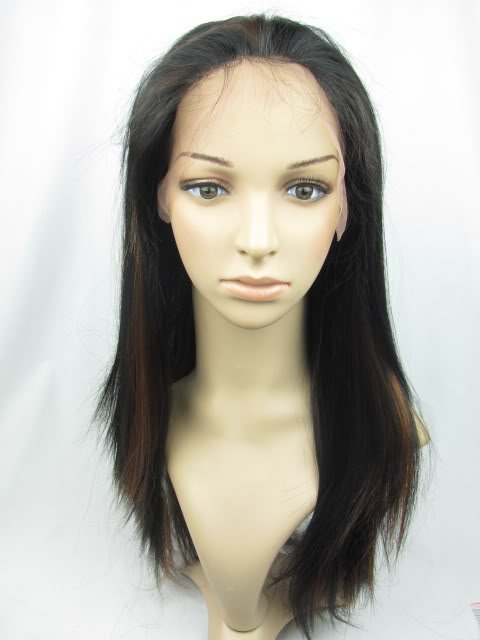 full lace wig remy human hair 16' 1b-30# silky straight