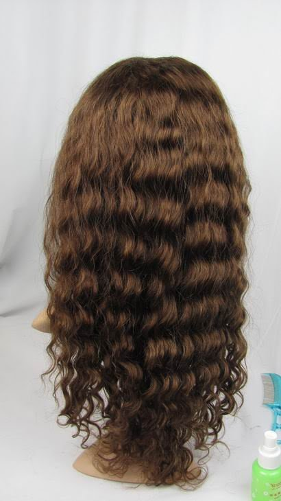 full lace wig remy human hair 18inch 4# deep wave