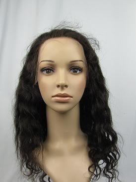 indian remy human hair 16'' 2# body wave full lace wig