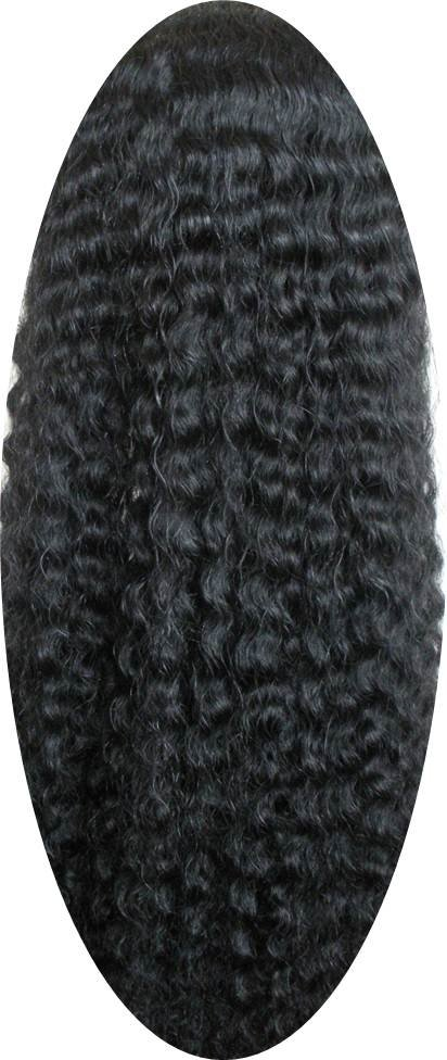 "12"" india remy human hair front lace wig 1b# water wave"