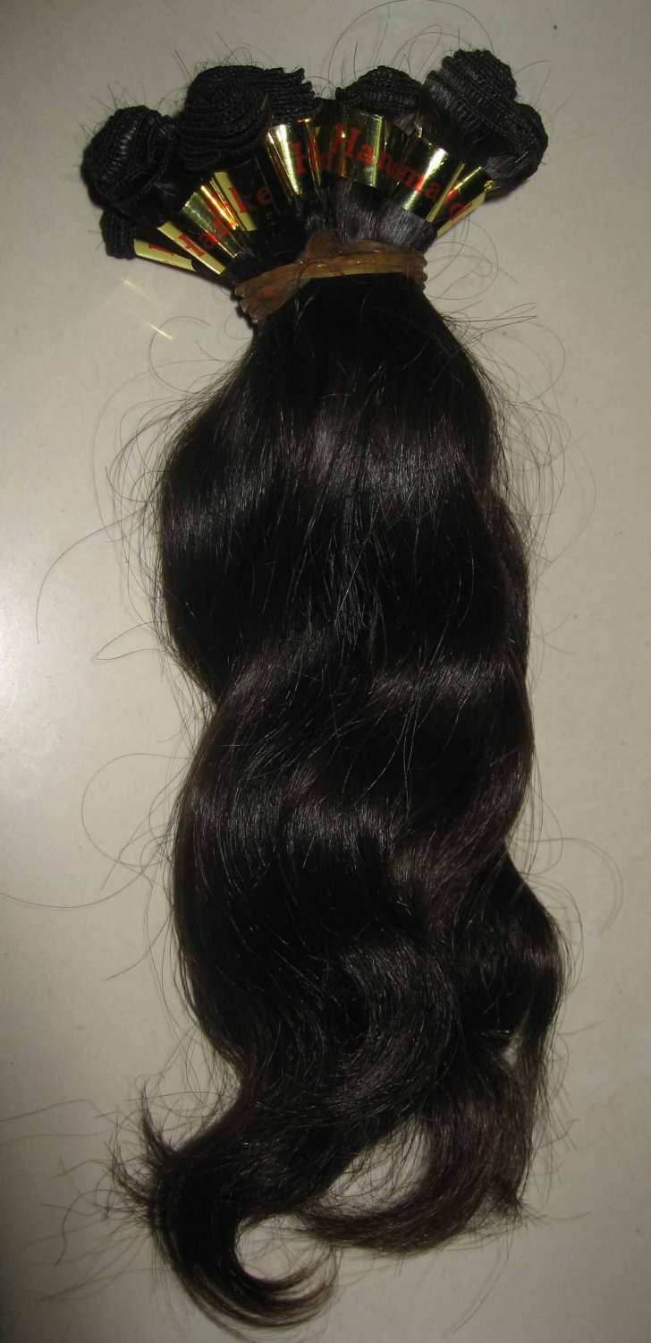 16in European hair hand tied micro thin weft body wave