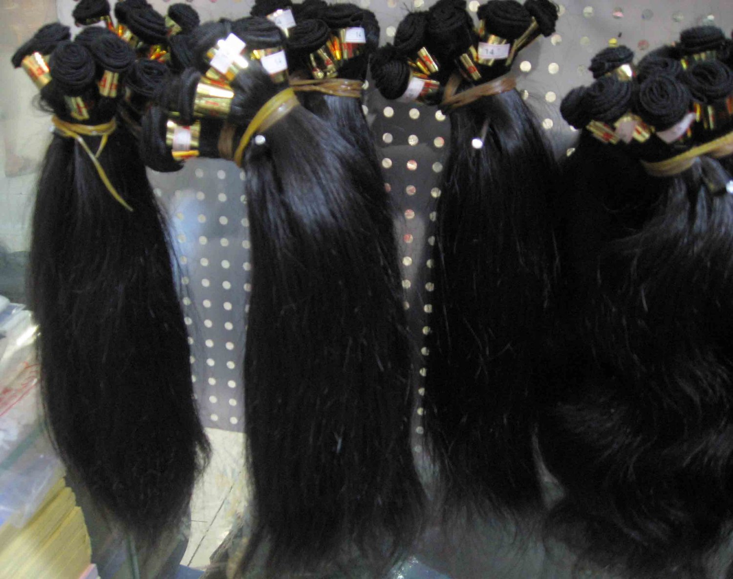 18in European hair hand tied micro thin weft straight