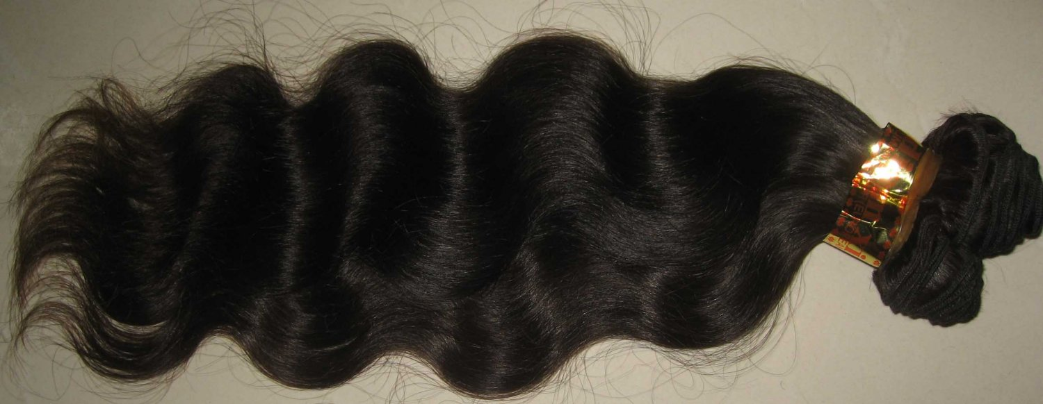 18in European hair hand tied micro thin weft body wave