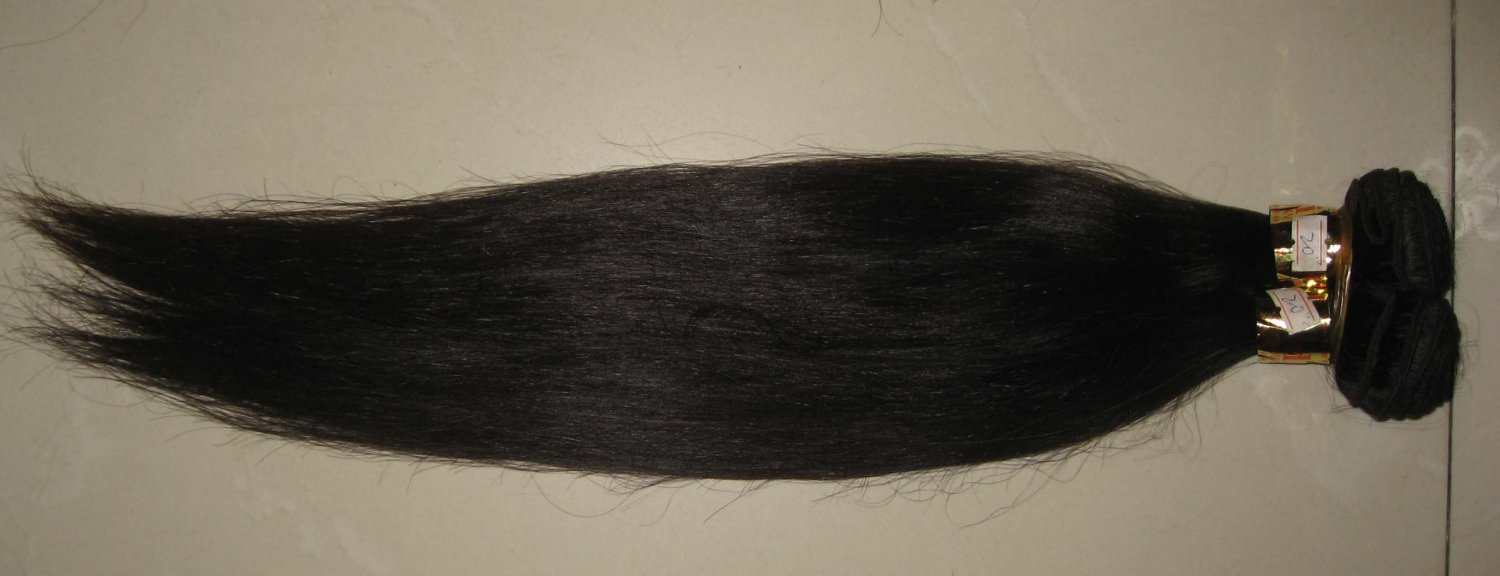 24in hand tied micro thin weft European hair straight