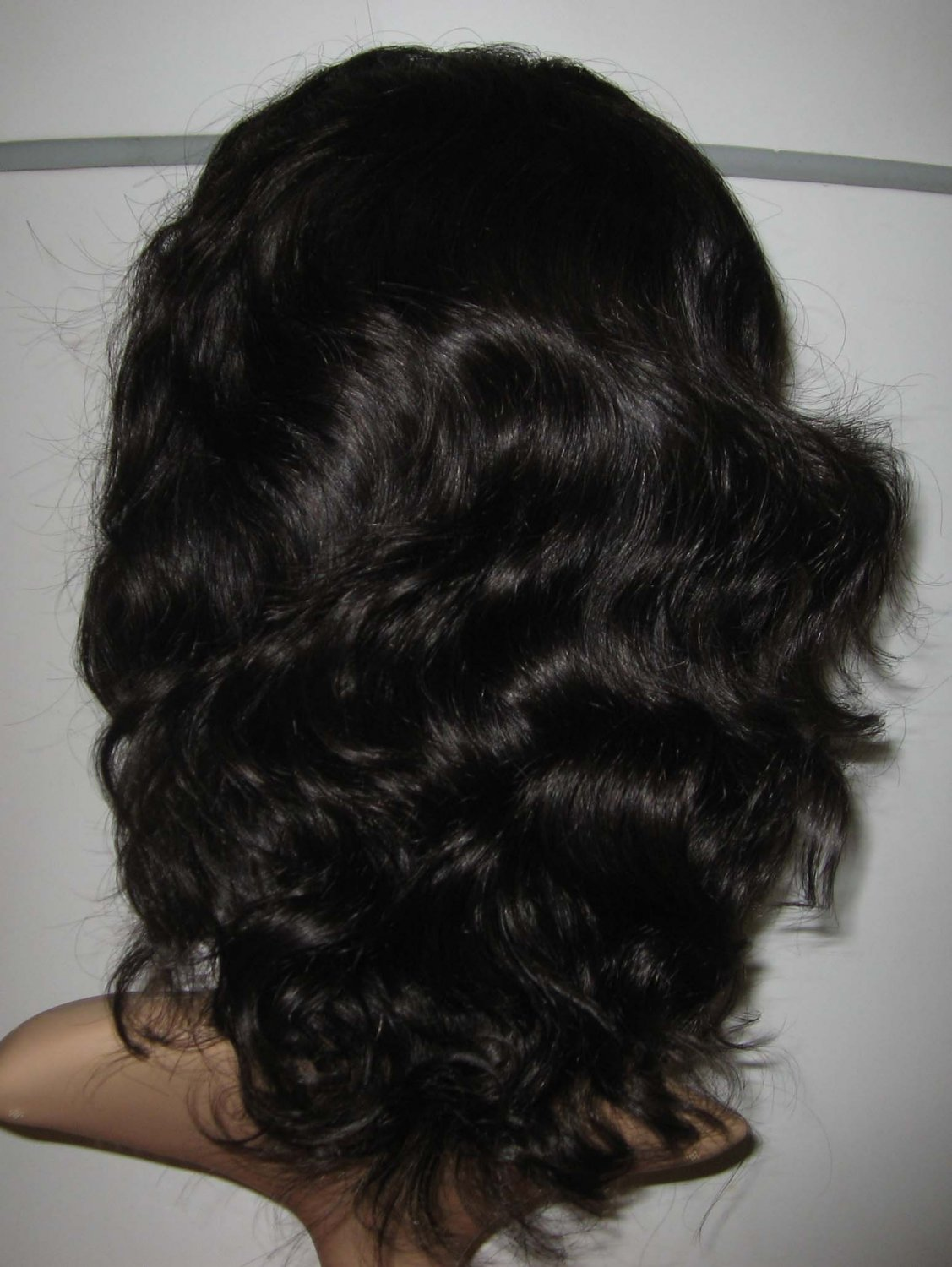 14in natural wave indian remy lace front wig 2#