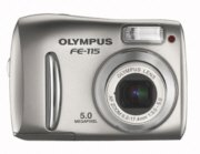 Olympus FE-115 5.0 MP Digital Camera with 2.8x Optical Zoom