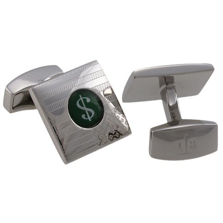 Tateossian US Flag Green Dollar Sign Cufflinks CUF0070