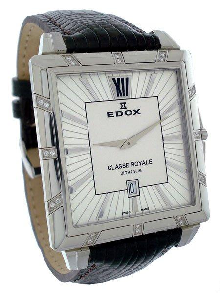 Edox Classe Royale Rectangular Mens Watch 27029 3D AIN