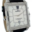 Edox Classe Royale Rectangular Mens Watch 27029 3D AIN