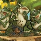 Laughing Frog Trio Garden Yard Decor