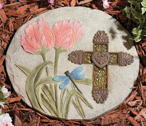 Mosaic Cross Stepping Stone