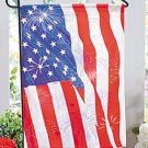 Red, White & Blue Patriotic Garden Flag