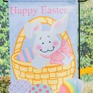 Easter Bunny Basket Garden Flag