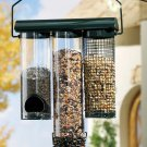 Hanging Birdfeeder With Three Separate Feeders