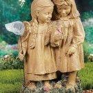 Butterfly Girls Garden Statue