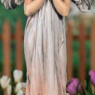Praying Angel with Rose Halo Garden Statue