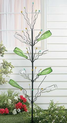 Wine Bottle Fruit Tree Garden Yard Decor