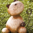 Stone Critter Kitty Cat Garden Yard Decor