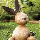 Stone Critter Bunny Rabbit Garden Yard Decor