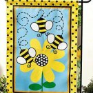Bumble Bee Garden Flag