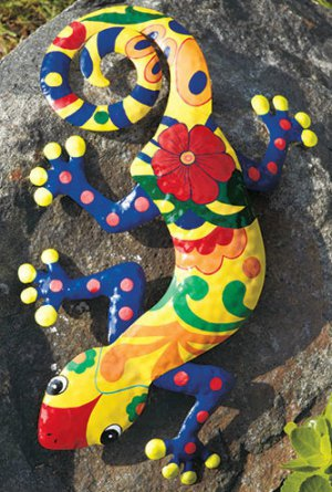 Colorful Gecko Wall Decoration