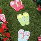 Flip-Flops Set of 3 Stepping Stones