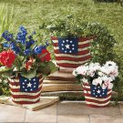 Set of 3 Americana Patriotic Planters