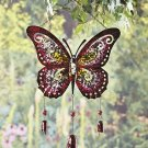 Giant Metal Purple Butterfly Wind Chime