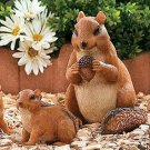 Chipmunk Family Garden Yard Decor