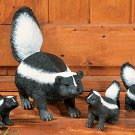 Skunk Family Garden Yard Decor