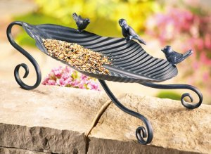 Metal Tabletop Bird Feeder