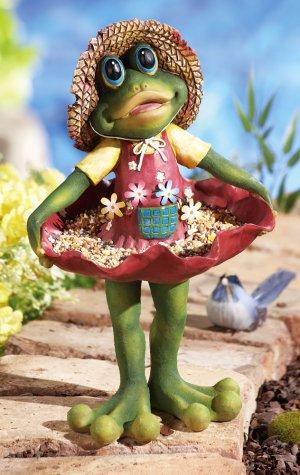 Curtsying Shirley Frog Bird Feeder
