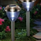 Copper Look Stainless Steel Solar Path Lights