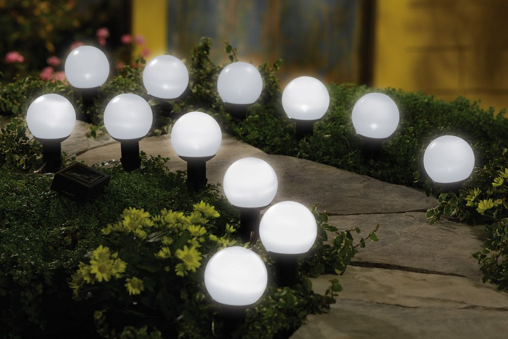 solar mini garden outdoor lighting globes. Black Bedroom Furniture Sets. Home Design Ideas